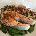 Grilled Salmon With Cucumber Relish