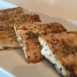 Roasted Salmon with Mustard Glaze