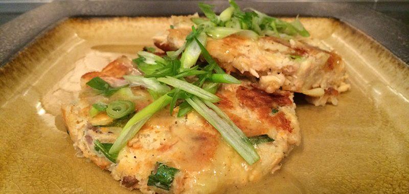 Green Onion Salmon Cakes