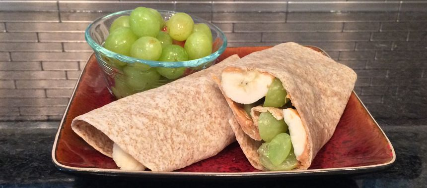 Peanut Butter Banana Wraps