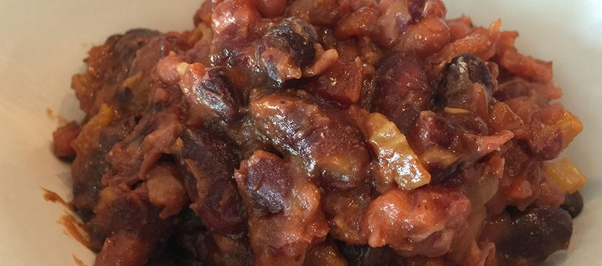 Overnight Slow Cooker Baked Beans