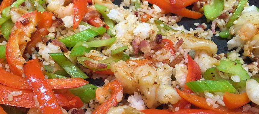 Shrimp Pepper Stirfry