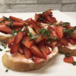 Balsamic Strawberries & Goat Cheese Crostini