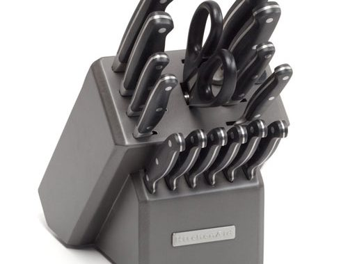KitchenAid® Triple Riveted 16-Piece Set in Silverite Block